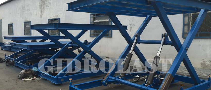 Hydraulic scissor lift tables