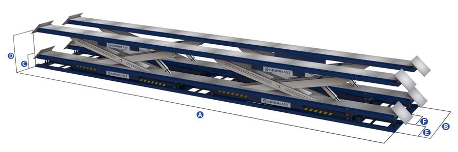 Commercial vehicle scissors lifts