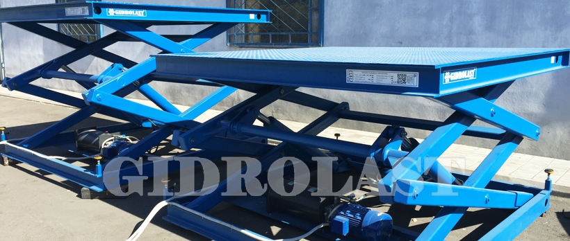 Hydraulic scissor lift tables | Gidrolast Italy