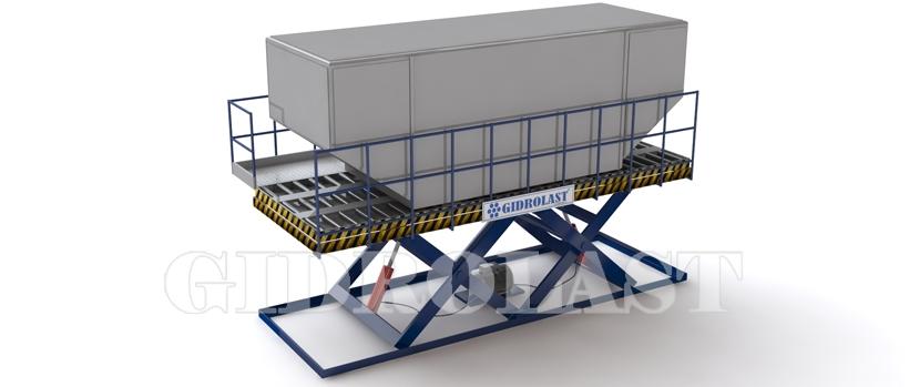 Cargo heavy duty scissors lift