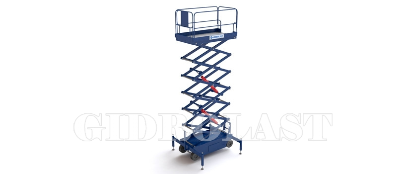 Scissor lift with pulling device